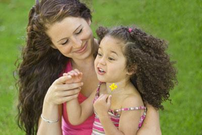 Little Girl Sharing a Wonderful story