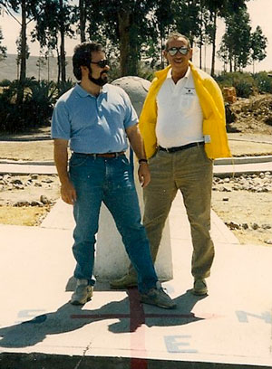 Bill Scollon and Roy E. Disney at equator